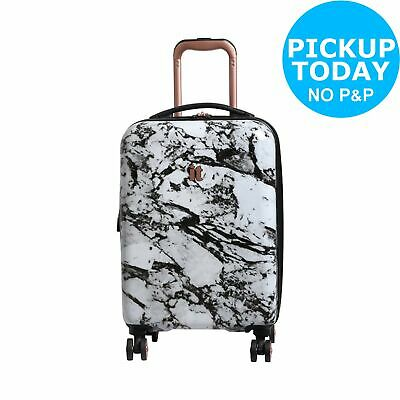 IT Luggage 8 Wheel Cabin Marble Effect Suitcase