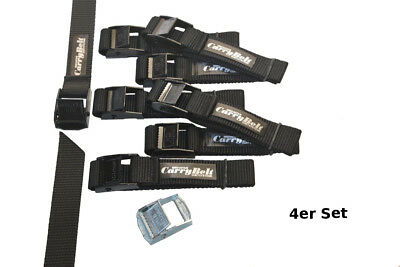 CarryBelt Spanngurte 25mm Gurtbreite - 4er Set`s- Klemmschnalle Metall Outdoor