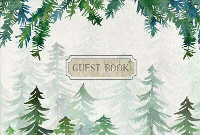 Guest Book Cabin Edition by Rock Point Editors Hardcover Book Free Shipping!