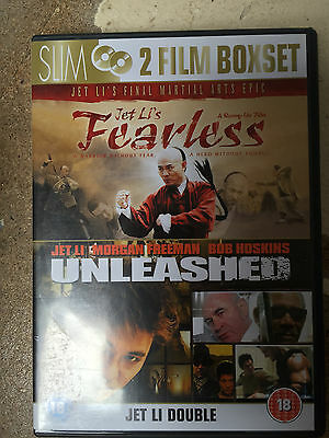 Jet Li Morgan Unleashed o Danny The Dog / Fearless ~ Artes Marciales Doble DVD