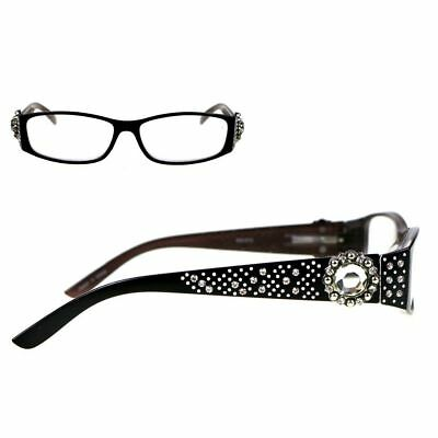 d4095286800 Montana West Reading Glasses Western Berry Shaped Concho Large Crystal Black