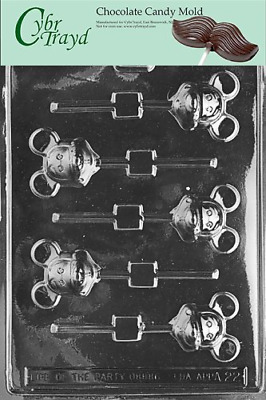 Cybrtrayd Life of the Party A022 Mouse Lolly Mickey Chocolate Candy Mold in Poly