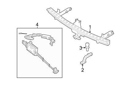 oem genuine ford trailer plug in connector bracket 4 way 7 way 2000 Ford Explorer Wiring Diagram brand new genuine ford oem trailer hitch assembly 2007 15 edge mkx 7t4z19d520a
