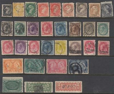 Canada 19th Century Collection 32 diff used stamps cv $324