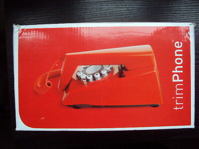 WILD & WOLF RED TRIM PHONE 1970s DESIGN CLASSIC VGC BOXED FREE UK POST