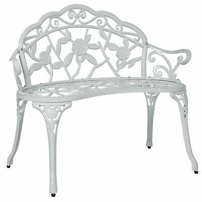 BCP Floral Rose Garden Bench Accent Furniture w/ Steel Frame