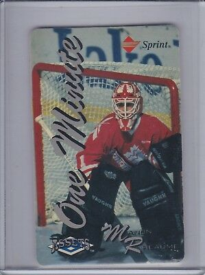MANON RHEAUME1994-95 Assets Phone Cards One Minute #18  (D1240)