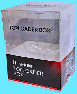 1 ULTRA PRO 30+ TOPLOADER Trading CARD STORAGE BOX Sports Clear Case Magnetic