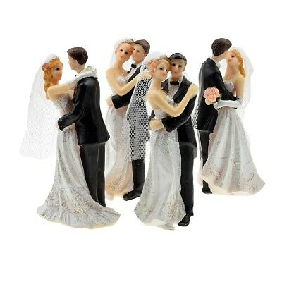 8 Bride and Groom Cake Toppers - Wedding Cake Topper Assorted