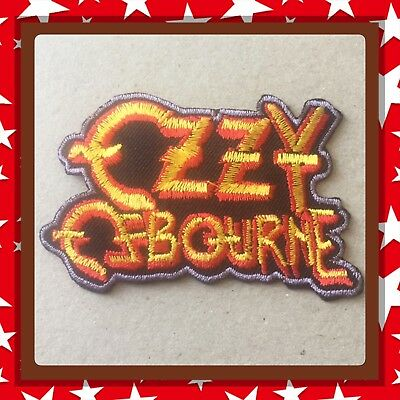 🇨🇦 Ozzy Osbourne Patch Embroidered Sew On/stick On Clothing/new 🇨🇦
