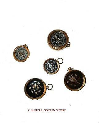 5 pcs compass with chain special gited