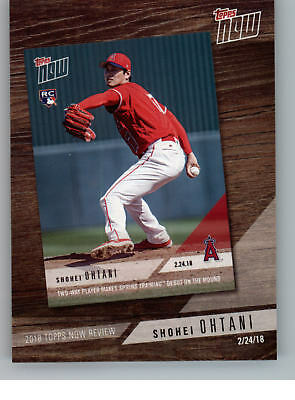 2019 Topps Baseball Topps Now Review TN-2 Shohei Ohtani - Los Angeles Angels