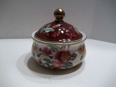 Oriental Accents Beautiful Brightly Colored Covered Dish - Decorative Only