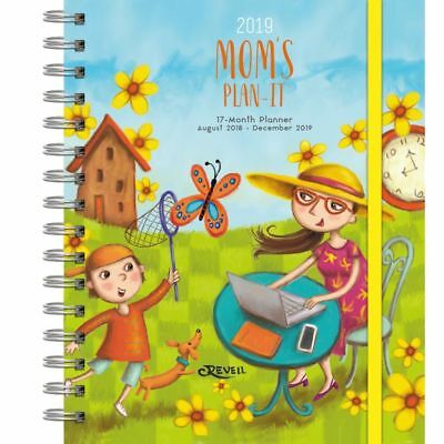 2019 Moms Plan-It Wall Calendar, Family Organizer by Wells Street by LANG