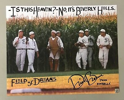 BEVERLY HILLS Inscribed Dwier Brown Signed 16x20 FIELD OF DREAMS Photo Hologram