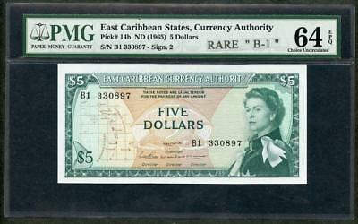 1965 1 Dollar Nd P-13e east Caribbean Currency Authority Good Ostkaribisch