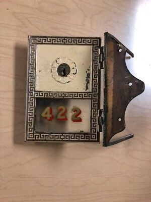 Vintage Antique Usps Postal Mail Box  Solid Brass