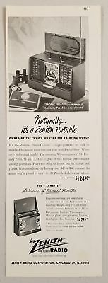 1948 Print Ad Zenith Portable Trans-Oceanic Short Wave Radios Chicago,IL