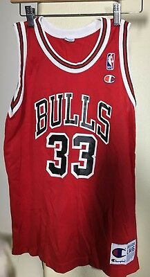 e5b8cd967 Vintage Chicago Bulls Scottie Pippen  33 Champion Jersey Youth Boys Large 14 -16