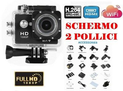 Full Hd 1080P 12 Mp Wifi Action Sport Camera 30M M Subacquea Videocamera Pro Cam