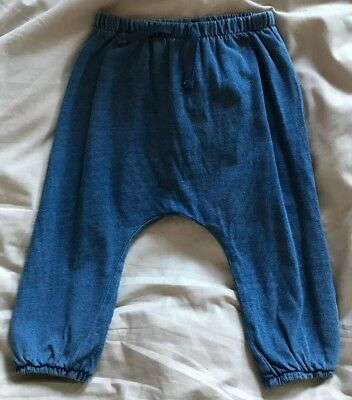 Next Baby Boys Blue Baggy Jogging Bottoms. Age 12-18 Months