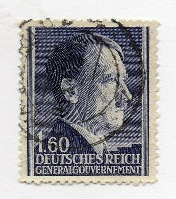 German Occupation of Poland 1941 Hitler . Issue Fine Mint Hinged 1.60z. 297143