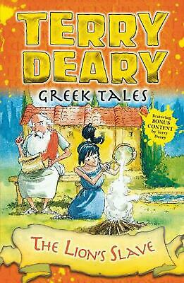 Greek Tales: the Lion's Slave by Terry Deary Paperback Book Free Shipping!