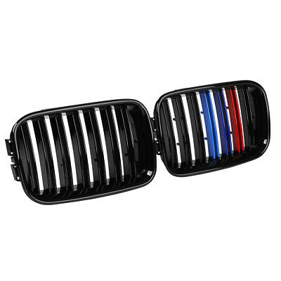Front Kidney Sport Grill Grilles Shiny Glossy Black M Color For BMW E36 1992-96