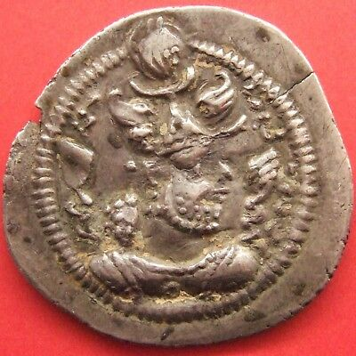 Coins: Ancient Coins & Paper Money Ancient Silver Coin Sassanian Empire Kavad I Fire Altar Second Reign Drachm