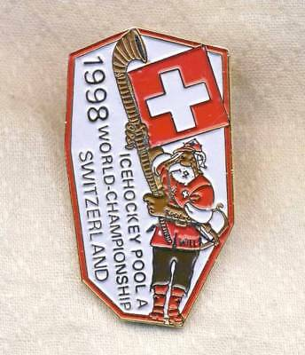 1998 IIHF WORLD Ice HOCKEY Championships NUMBERED Pin BADGE Eishockey WM SWISS