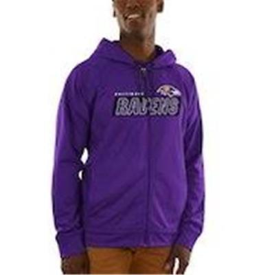 New Mens Baltimore Ravens Majestic Full Zip Game Elite Synthetic Hoodie  Size M 0427e0c9f