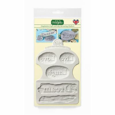Katy Sue Fondant Cake Icing Craft Embellishment Mould - Driftwood & Word Stones