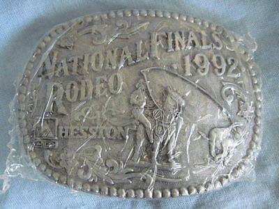 1992 NATIONAL FINALS RODEO BELT BUCKLE Hesston ADULT Western
