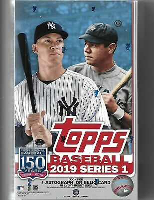 2019 Topps Series 1 Baseball Factory Sealed Hobby Box with 1 Silver Pack
