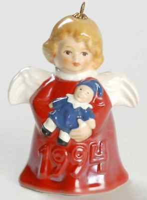 Goebel ANGEL BELL ORNAMENT 1994 Angel With Clown (Red) 3933985