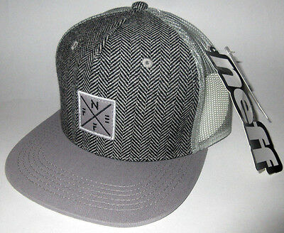 f27602f707dd8 Mens Neff Gray Hat Snapback Adjustable Cap One Size