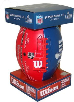 NFL Official Super Bowl 53 LIII Commemorative Red White & Blue Dueling Football