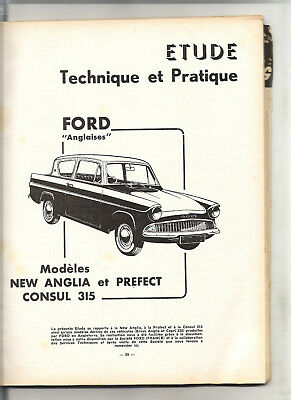 Rta Revue Technique Automobile 1962 // Ford Anglia Perfect Consul + Usine Facom