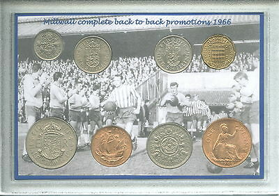 Millwall FC The Lions Den Vintage Promotion Retro Coin Present Gift Set 1966