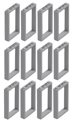 Lego X8 White Door With Black Frames 1x4x6 Home Building Parts Lot