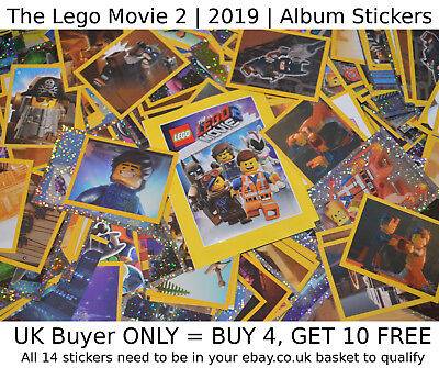 THE LEGO MOVIE 2 (2019) Album Stickers | SELECT YOUR >> Sticker (1-182) **NEW**