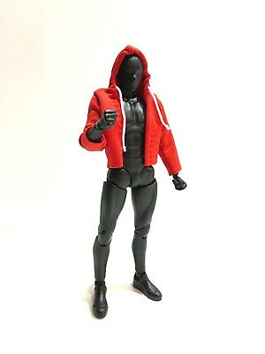 "NOX-ST-RD: 1/12 Red fabric hoodie for 6"" ML Spiderman SHF Figma (No Figure)"