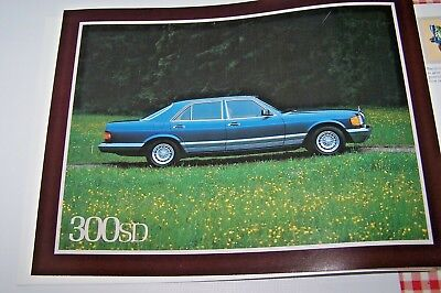 1981 mercedes 300sd 380sel owners sales brochure new original w126