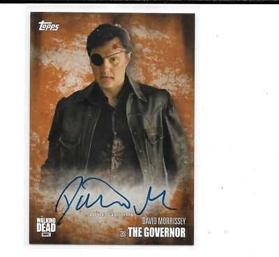 2016 Topps The Walking Dead David Morrissey Auto Autograph # 16/99 As Governor