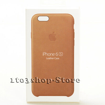 Genuine Original Apple Leather iPhone 6 / iPhone 6s Hard Snap Cover Case - Brown
