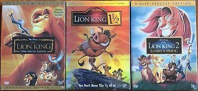 The Lion King 1, 1.5, and 2 (Trilogy )Brand New 3-DVD Set    Free Shipping!
