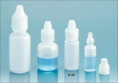 6 ml LDPE Squeezable Soft Plastic Dropper Bottles (Lot of 12)
