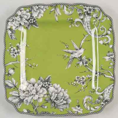 222 Fifth ADELAIDE-GREEN & WHITE Square Dinner Plate 8995352
