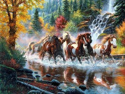 Art Giclee Canvas Print Animals Horses Oil painting HD Printed on Canvas P209