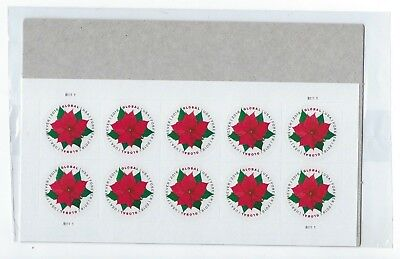 USPS Sealed Package! Global Forever Stamp Sheet. Christmas Blossoming Poinsettia